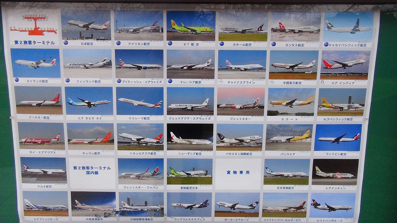 成田第二ターミナルから離陸する飛行機一覧