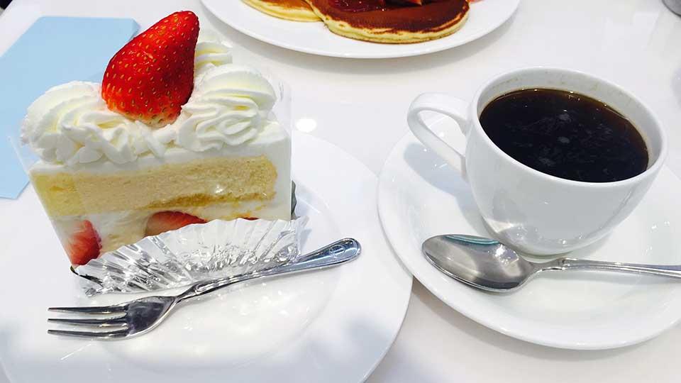 銀座千疋屋ショートケーキとコーヒー