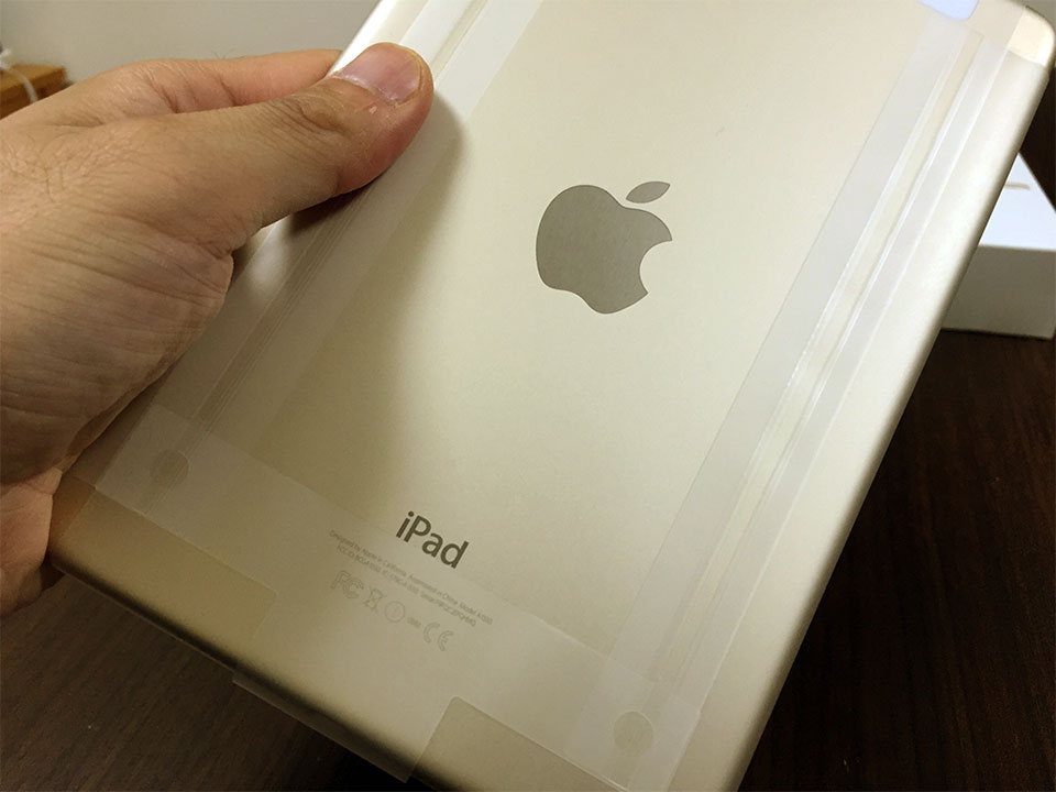 iPad mini 4 ゴールド裏面