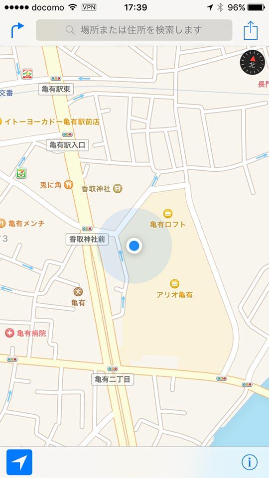 アリオ亀有の地図