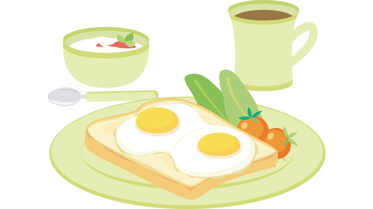 朝食イラスト