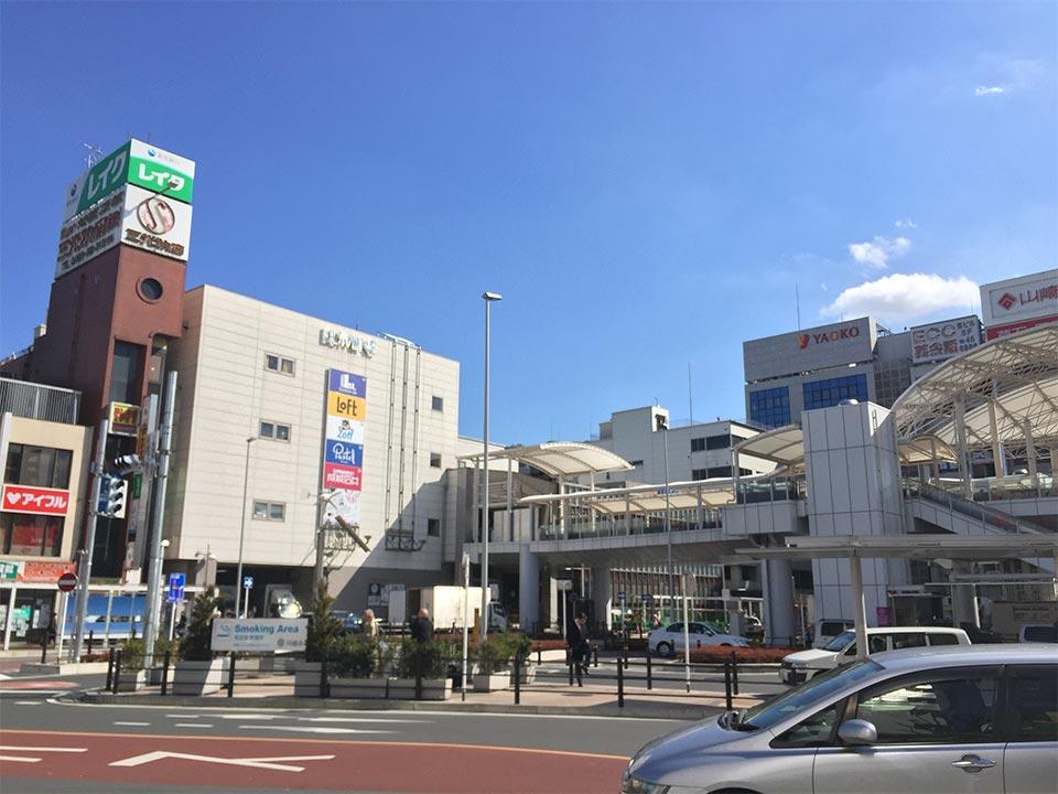 川越駅西口周辺