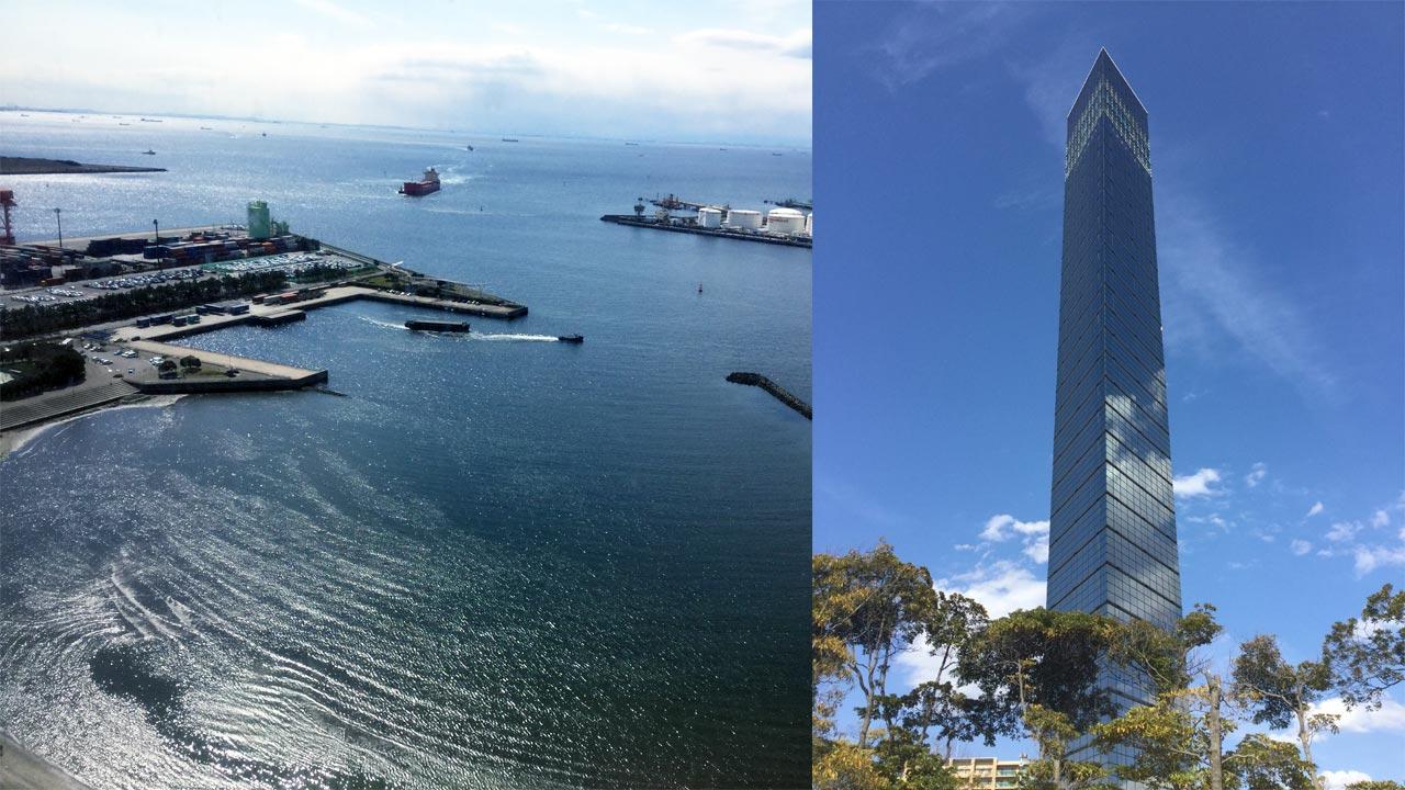 千葉ポートタワーと風景