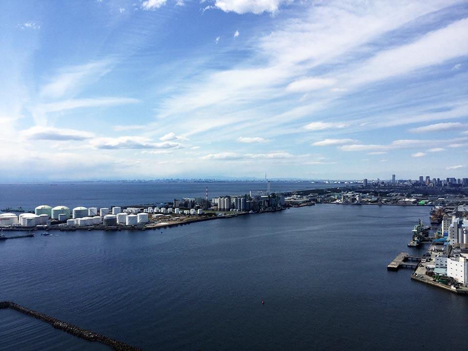 千葉ポートタワーから見た風景