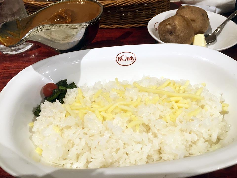 東京神田神保町カレーハウスボンディチーズ入りライス