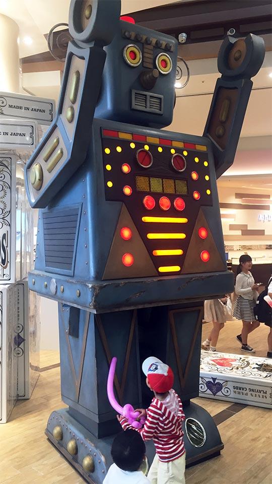 セブンパークアリオ柏BIG WONDERブリキロボット