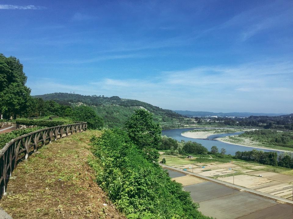 越後川口SA(下り線)展望台風景