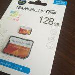 Amazonでレビューの多さがダントツのTeam製 Micro SDXC UHS-1 128GBを購入しました