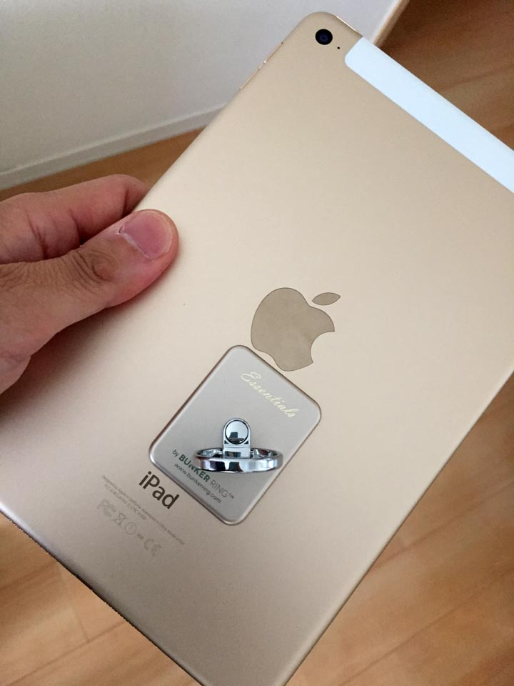 iPad mini 4とバンカーリング