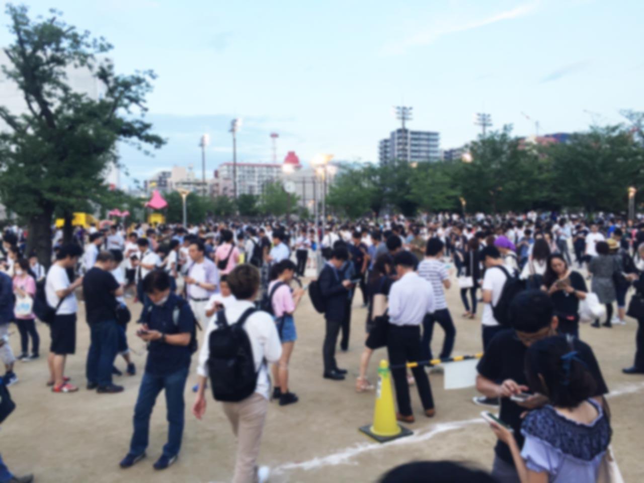 錦糸公園の状況ポケモンGO効果
