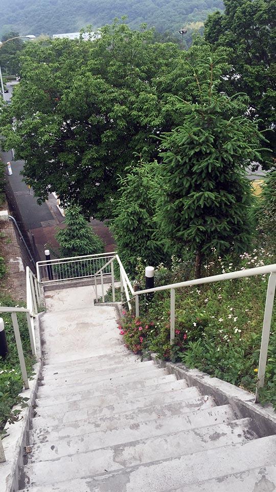 下り線への階段_栃木県佐野サービスエリアSA