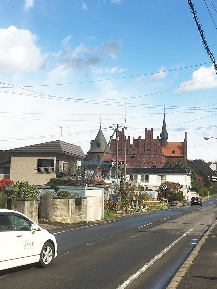登別駅前のお城