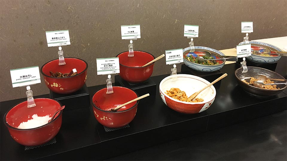 ホテルゆもと登別_朝食惣菜