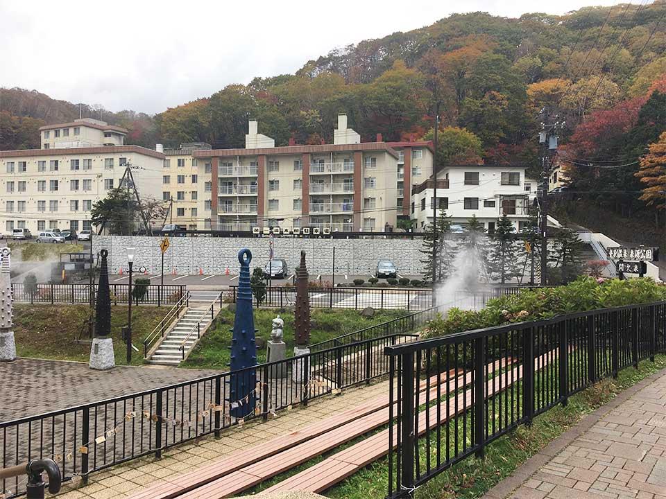 登別温泉ターミナル金棒と鬼さんと公園