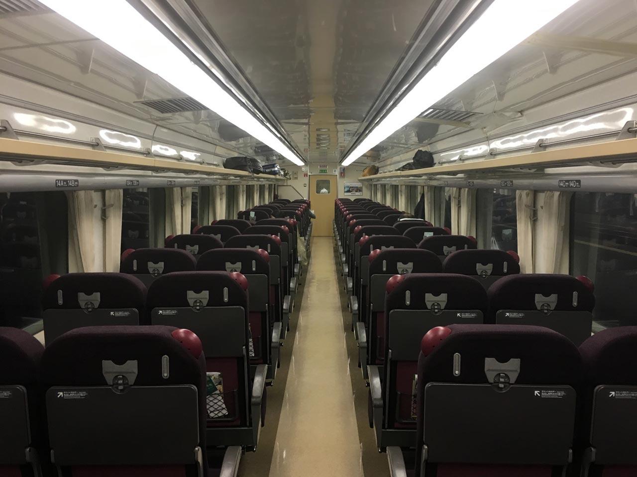 特急北斗の車内座席北海道旅行