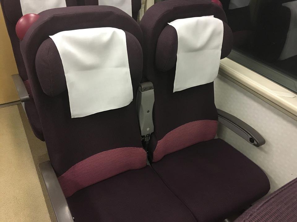 座席探訪_特急北斗の車内座席北海道旅行