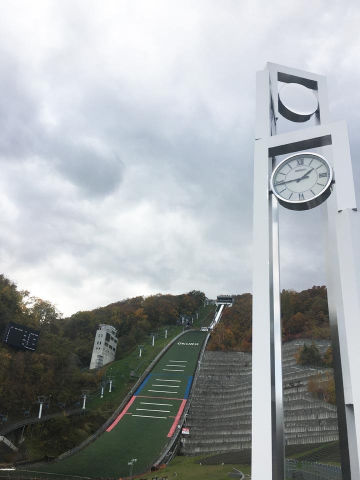 大倉山展望台外観と時計
