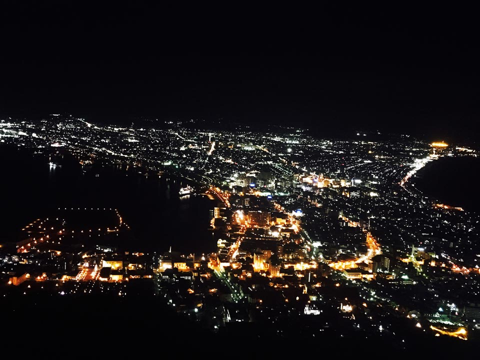 函館山ロープウェイ頂上函館夜景