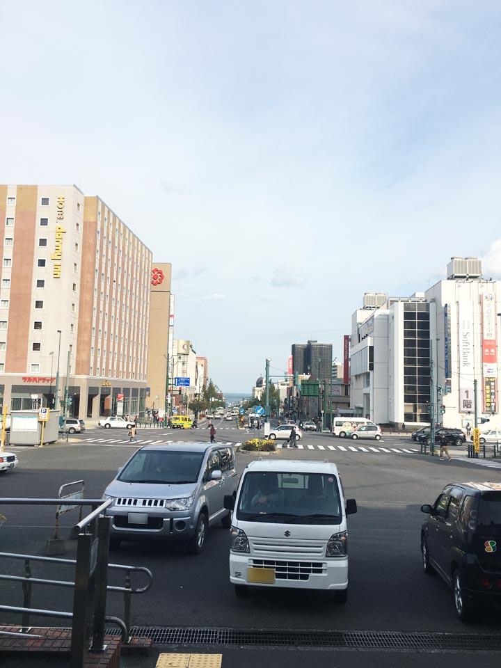 小樽駅小樽駅から運河の風景