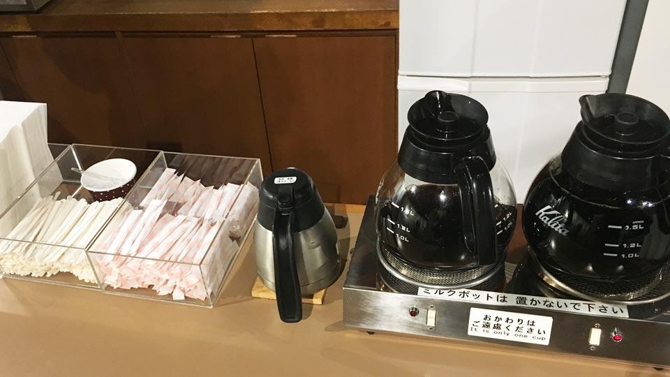 無料コーヒー小樽六花亭2Fカフェ
