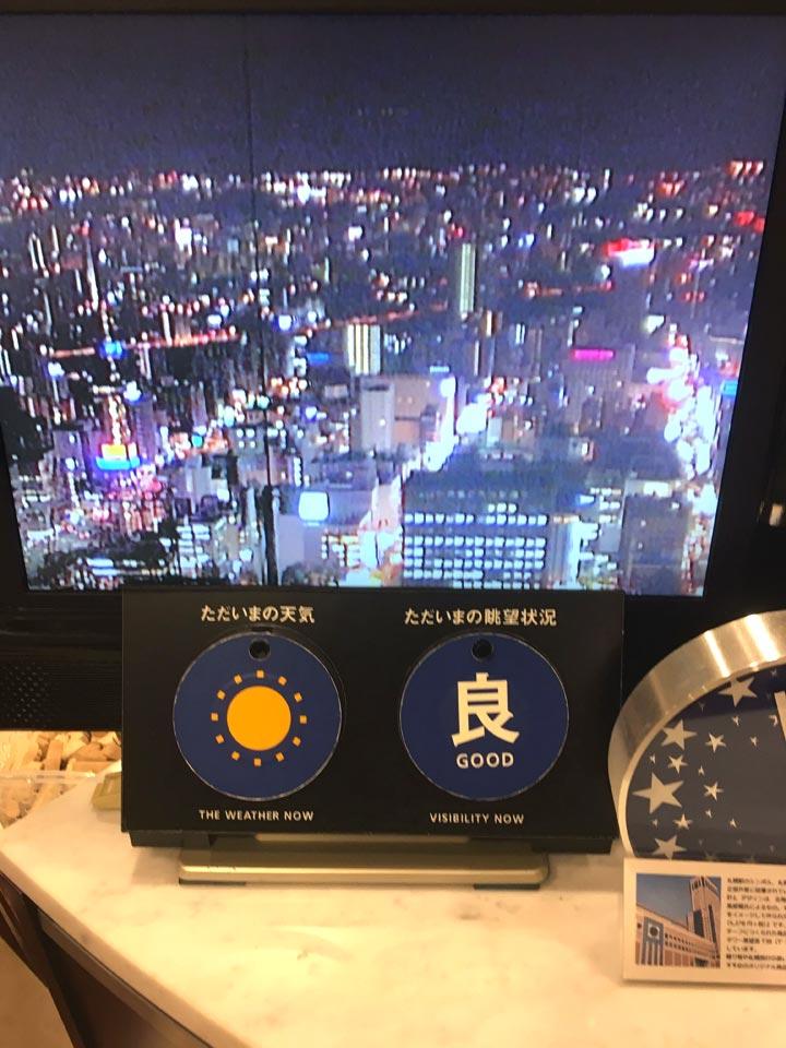 展望台の状況札幌JRタワー展望室T38