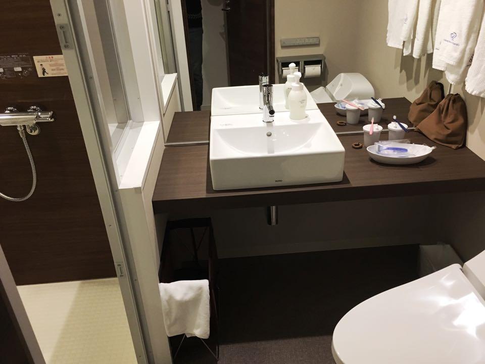 洗面台トイレ浴室_ダイワロイネットホテル_daiwa roynet hotel