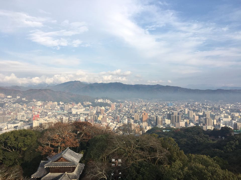 松山城天守閣からの景色