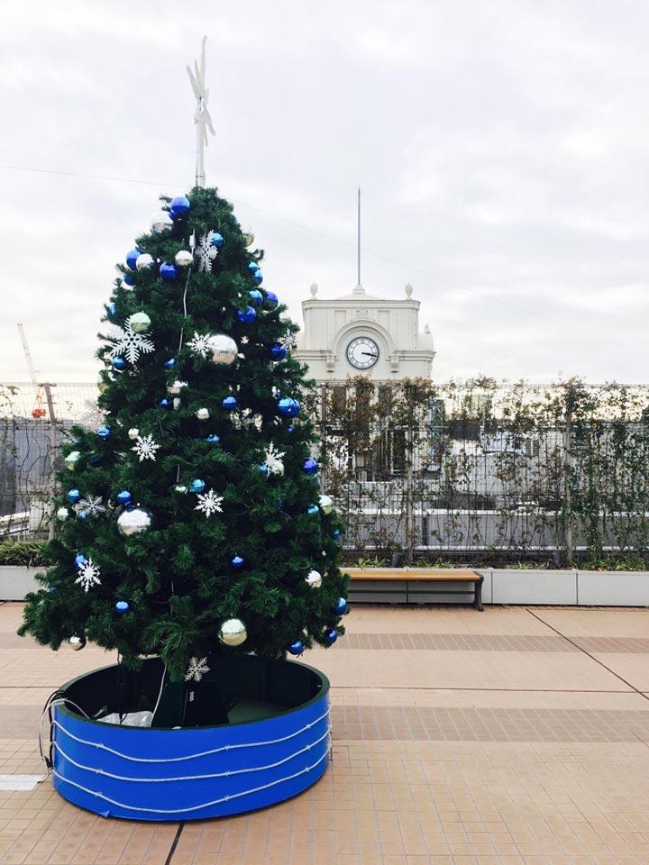 エキミセ浅草ハレテラス_クリスマスツリー