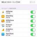 iPhone,iPadのモバイルデータ通信量をチェックする方法