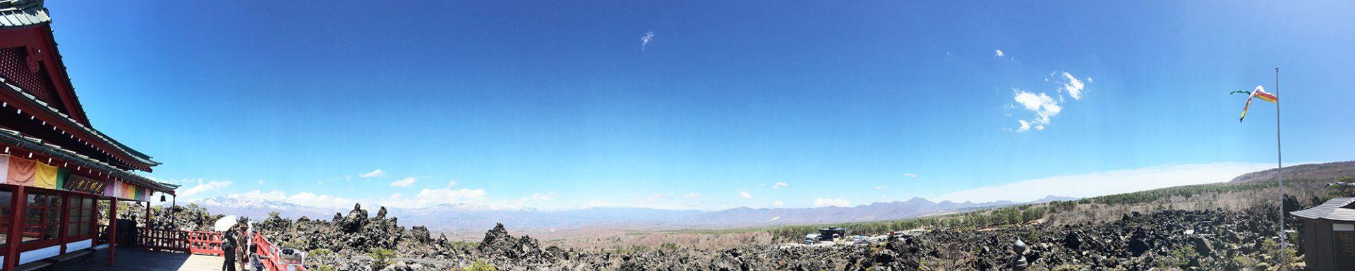 浅間山観音堂の展望台からの風景