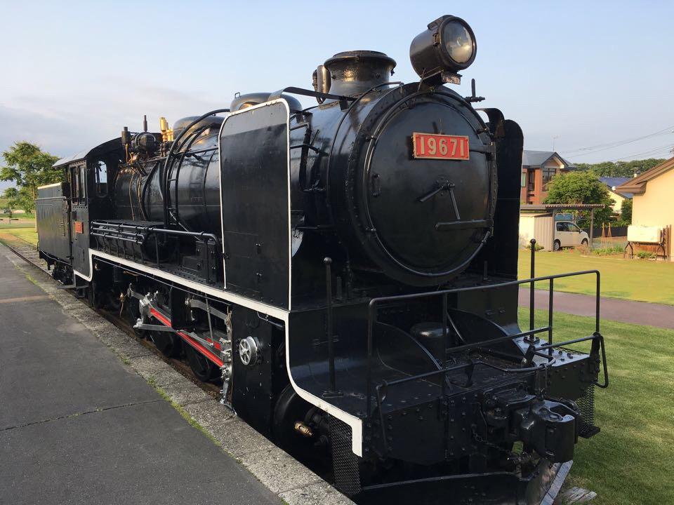 愛国駅_蒸気機関車