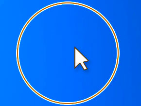 Windows_Ctrlキー_マウスポインター円を描く